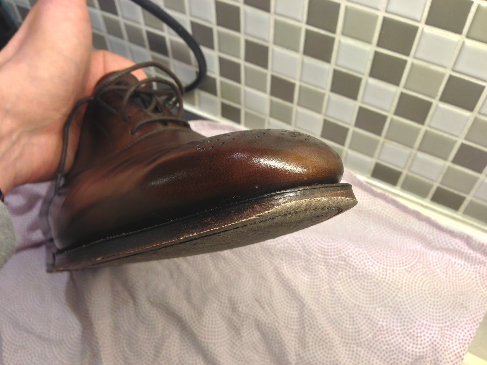 slitsula på lädersula