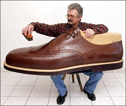 lästa ut skor på längden